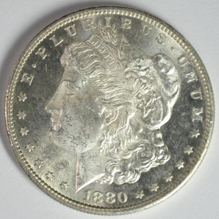 1880-S MORGAN DOLLAR CH BU SEMI PL