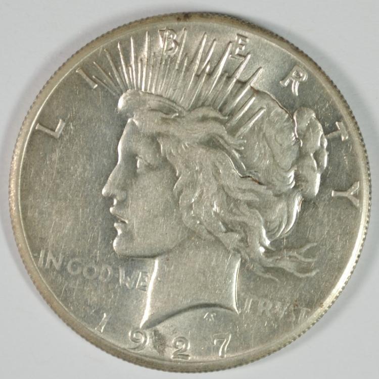 1927 PEACE DOLLAR AU/BU