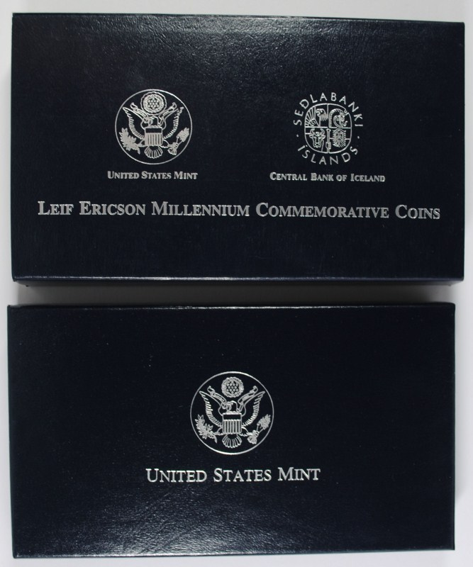 2000 LEIF ERICSON 2pc PROOF SET BOX / COA