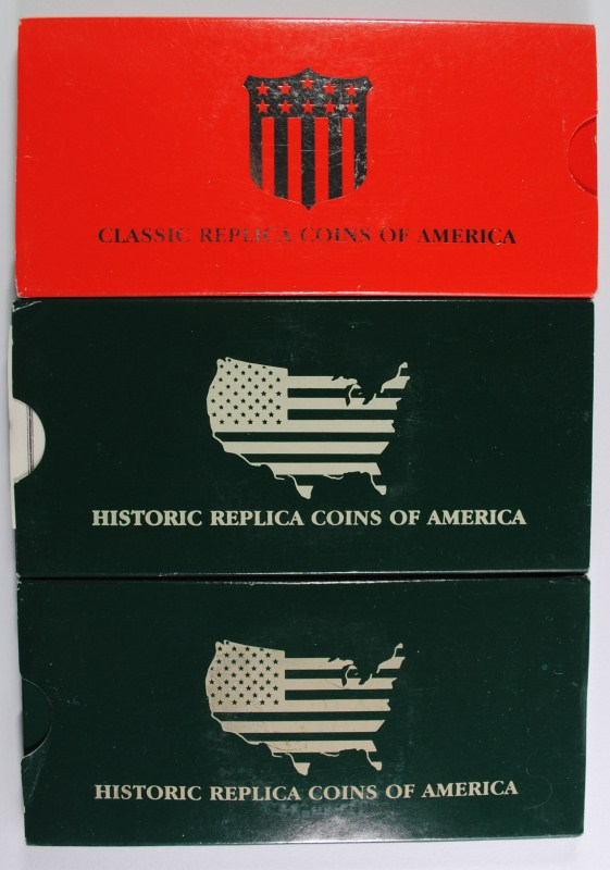 SILVER PLATED HISTORIC REPLICA COINS OF AMERICA
