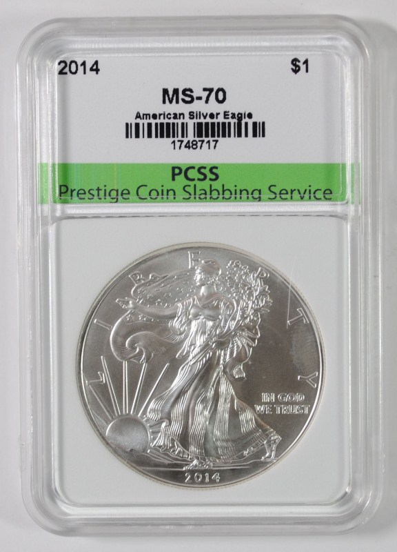 2014 AMERICAN SILVER EAGLE, PCSS PERFECT GEM BU