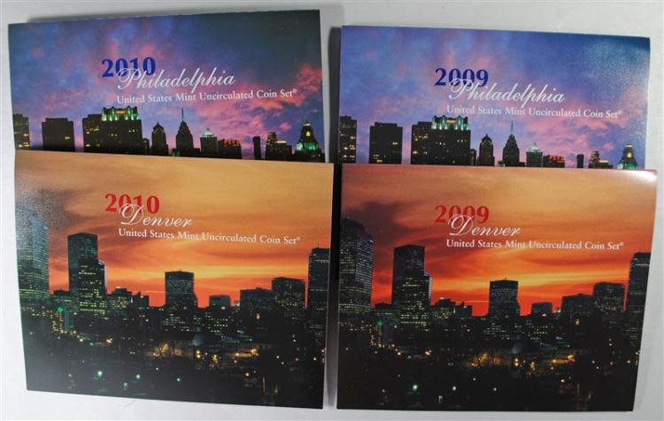 2009 & 2010 U.S., MINT UNCIRCULATED SETS IN ORIGINAL PACKAGING