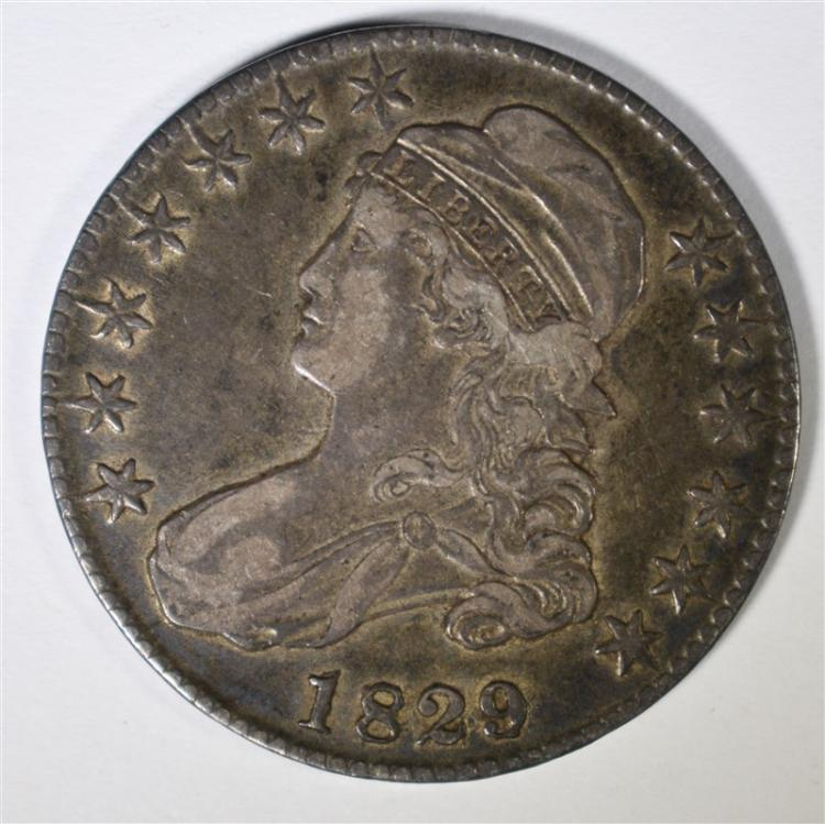 1829 7 Capped Bust Half Dollar Xf Beautiful Original Coin