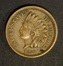 1860 INDIAN HEAD CENT, XF