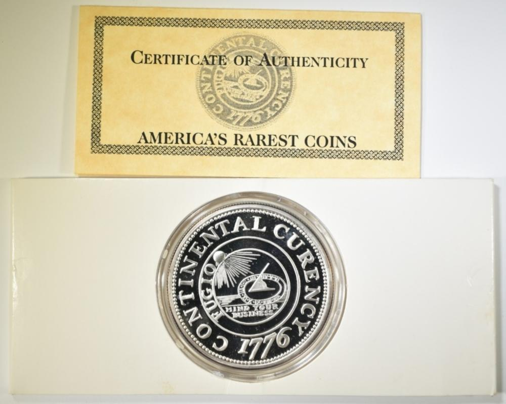 2-OUNCE .999 SILVER CONTINENTAL CURRENCY COPY