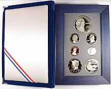1993 U.S. PRESTIGE PROOF SET WITH  BILL OF RIGHTS SILVER  DOLLAR AND SILVER HALF