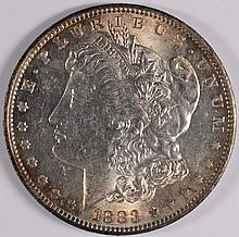 1883-O MORGAN SILVER DOLLAR, MS-63  SPECTACULAR COLOR!