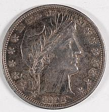 1892 BARBER HALF DOLLAR XF