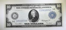 1914 $10 FEDERAL RESERVE NOTE (FR923) AU  SCARCE RICHMOND DISTRICT