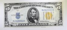 1934A $5 SILVER CERTIFICATE (F2307) CH.CU