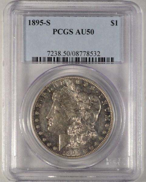1895-S Morgan Dollar PCGS AU-50 RARE!