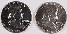 ( 2 ) 1953 FRANKLIN HALF DOLLARS, BU