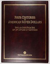 4 CENTURIES OF SILVER DOLLARS, 1793 8 ESCUDOS, 1879 MORGAN, 1923 PEACE, 2002 ASE