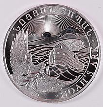 2013 REPUBLIC OF ARMENIA NOAH'S ARK ONE OUNCE .999 SILVER COIN