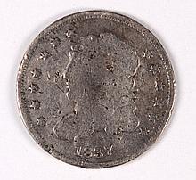 1837 BUST HALF DIME AG (DAMAGED)