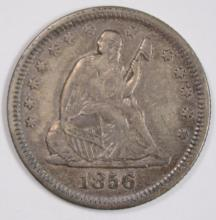 1856 SEATED LIBERTY QUARTER, AU