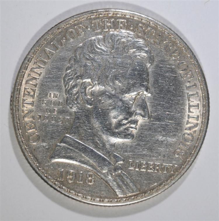 1918 LINCOLN COMMEMORATIVE HALF DOLLAR, CHOICE BU