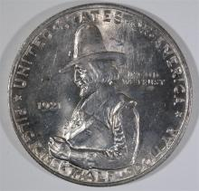 1921 PILGRIM COMMEMORATIVE HALF DOLLAR, CHOICE BU