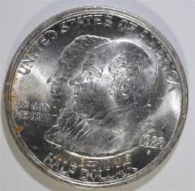 1923-S MONROE COMMEMORATIVE HALF DOLLAR, CHOICE BU