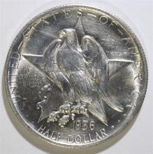 1936 TEXAS COMMEMORATIVE HALF DOLLAR, CHOICE BU