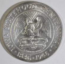 1946 IOWA COMMEMORATIVE HALF DOLLAR, CHOICE BU