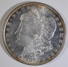 1878 7/8 TF STRONG MORGAN SILVER DOLLAR, CHOICE BU