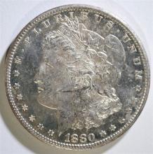 1880-S MORGAN SILVER DOLLAR, CHOICE BU PL