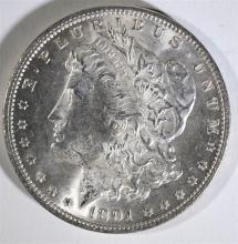 1891 MORGAN SILVER DOLLAR, CHOICE BU