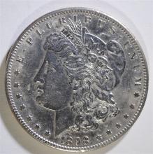 1898-S MORGAN SILVER DOLLAR, CHOICE BU