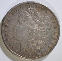 1901-S MORGAN SILVER DOLLAR, XF/AU  KEY DATE