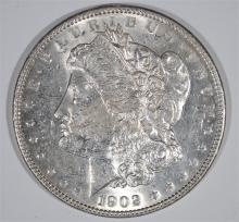 1902 MORGAN SILVER DOLLAR, CHOICE BU  KEY DATE