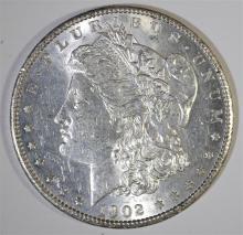1902-S MORGAN SILVER DOLLAR, CHOICE BU  KEY DATE!