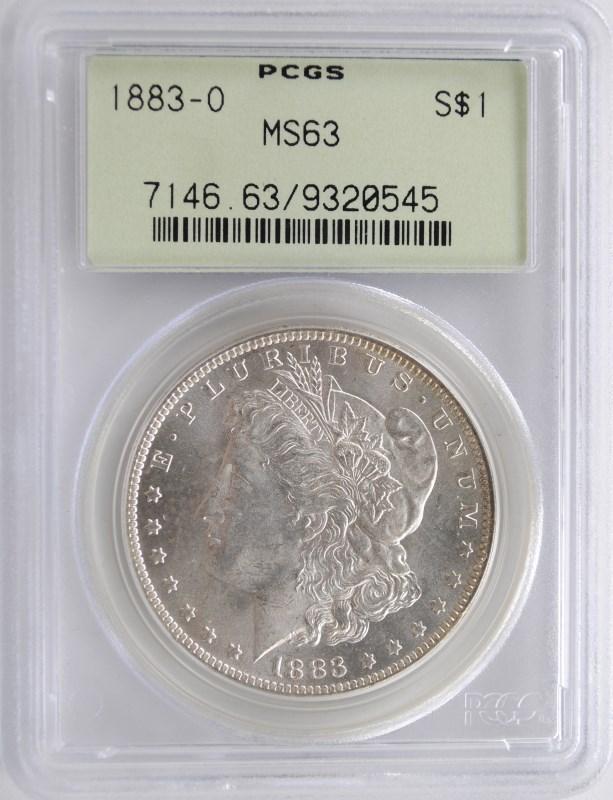 1883-O MORGAN SILVER DOLLAR PCGS MS63 GREEN LABEL