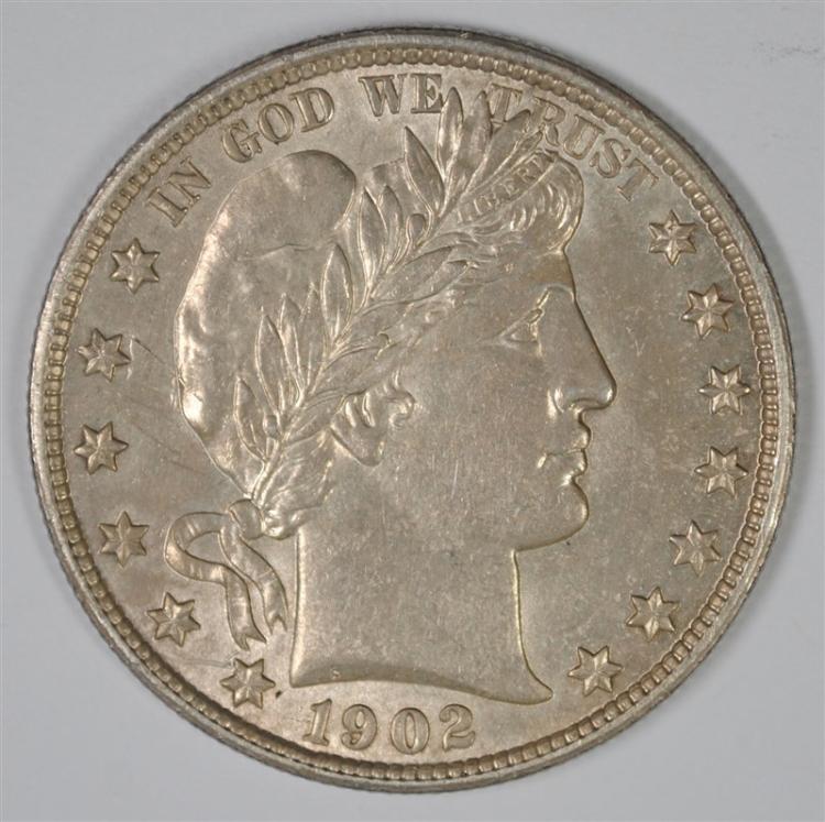 1902 BARBER HALF AU/BU