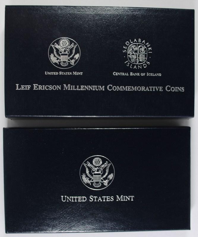 2000 LEIF ERICSON 2pc PROOF SET BOX / COA