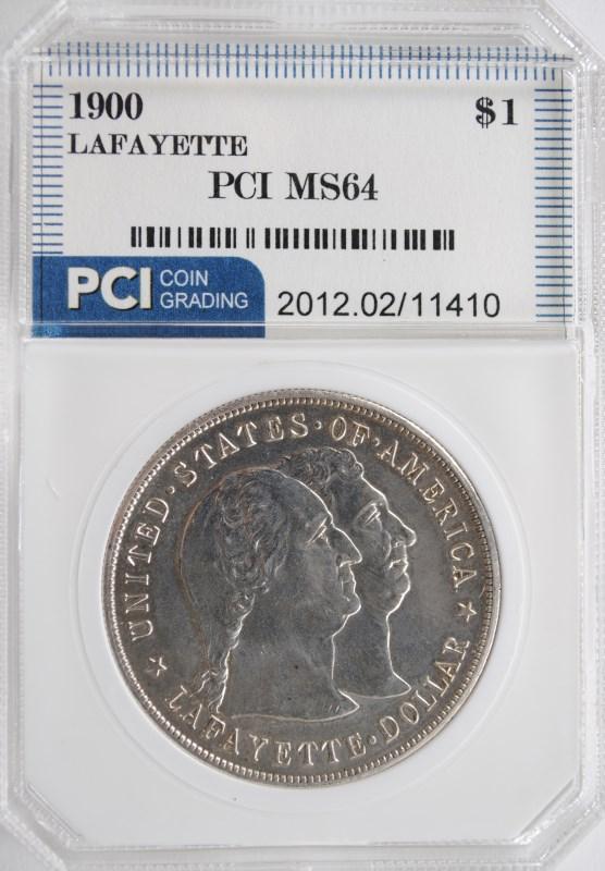 1900 COMMEMORATIVE SILVER LAFAYETTE DOLLAR PCI CH BU  VERY RARE!