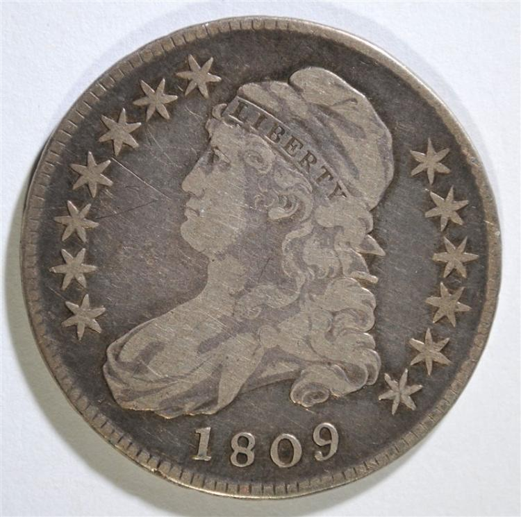 1809 CAPPED BUST HALF DOLLAR - VF