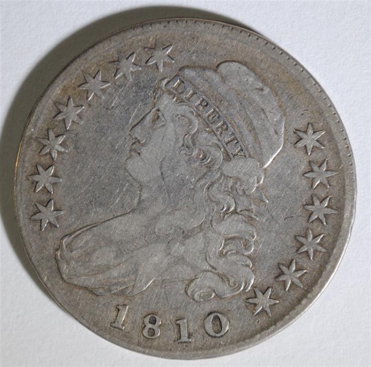 1810 CAPPED BUST HALF DOLLAR - VF