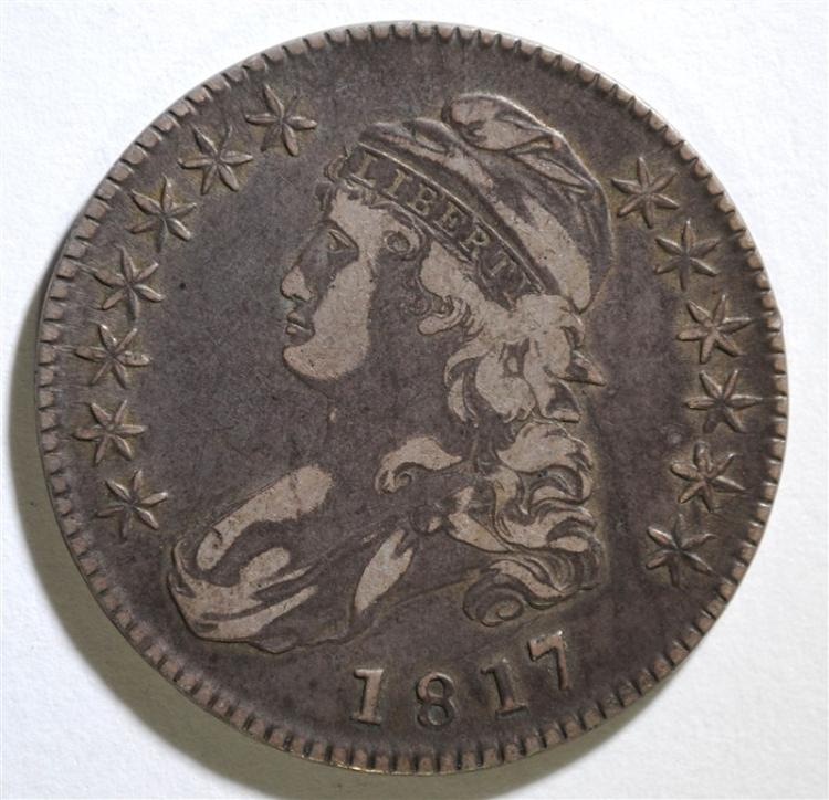 1817 CAPPED BUST HALF DOLLAR - VF FEW SCRATCHES ON OBVERSE