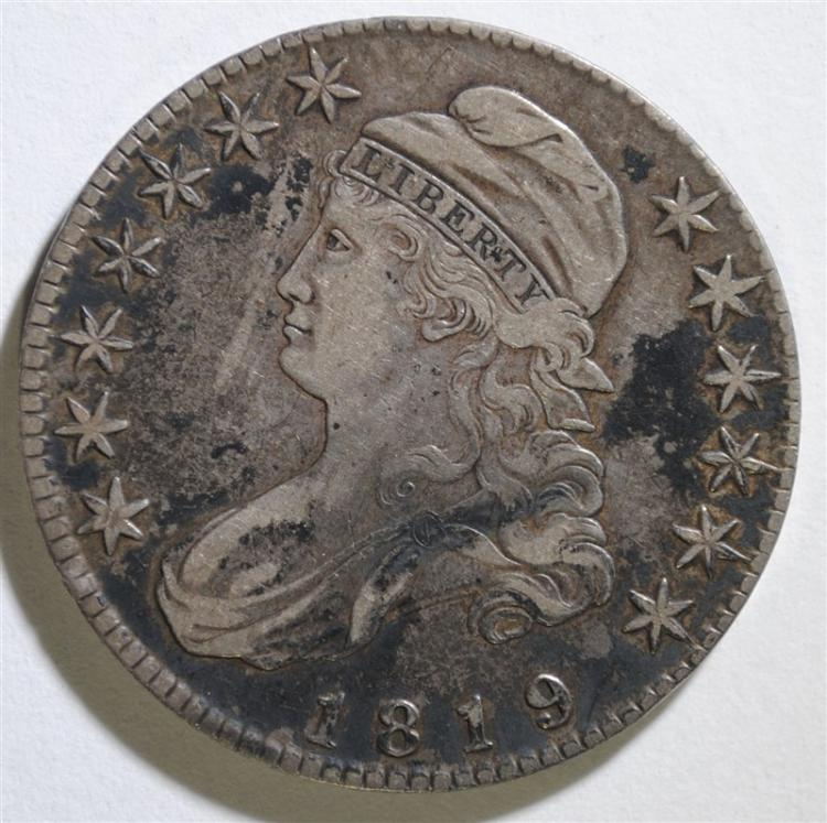 1819 CAPPED BUST HALF DOLLAR - XF SCARCE!