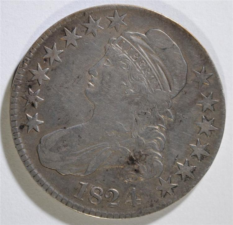 1824 CAPPED BUST HALF DOLLAR - XF