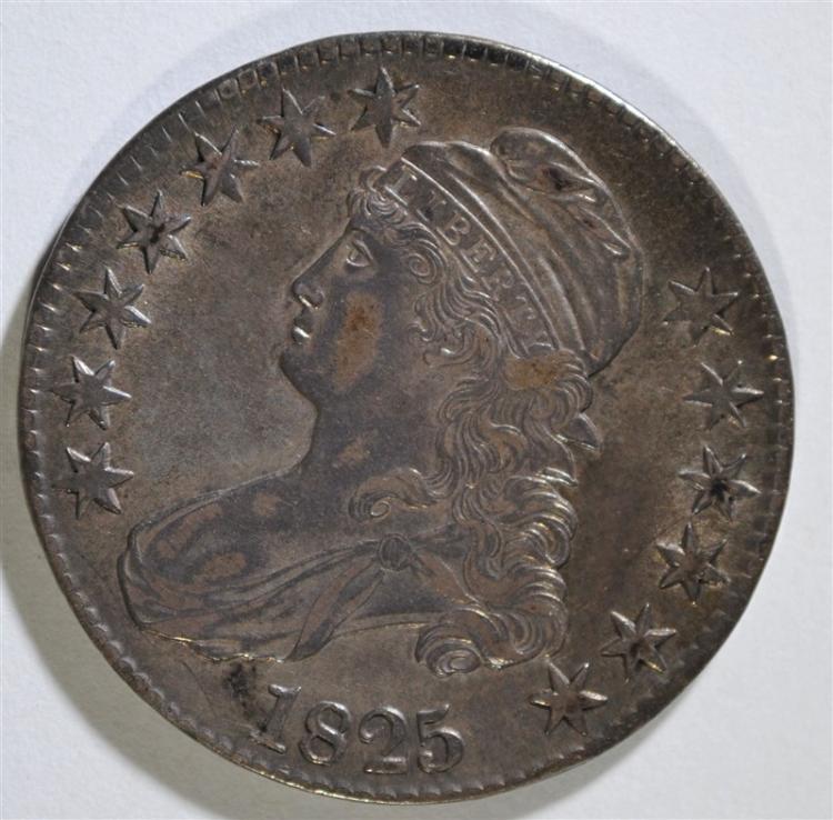 1825 CAPPED BUST HALF DOLLAR -XF/AU