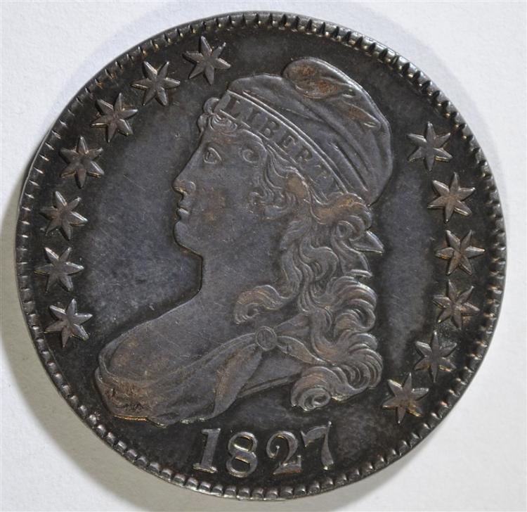 1827 CAPPED BUST HALF DOLLAR - XF/AU