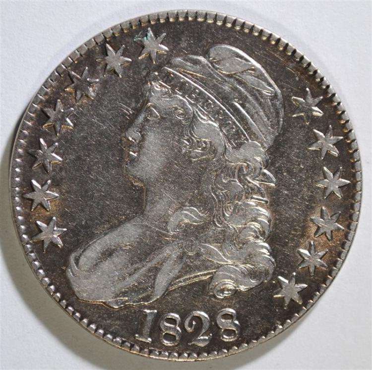 1828 CAPPED BUST HALF DOLLAR - XF/AU