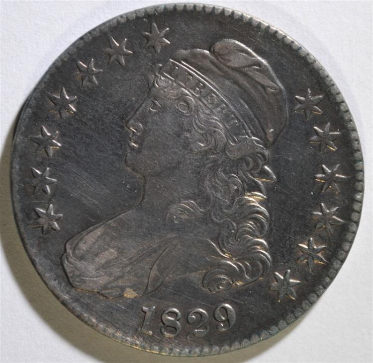 1829 CAPPED BUST HALF DOLLAR - AU