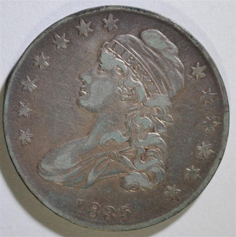1835 CAPPED BUST HALF DOLLAR, VF