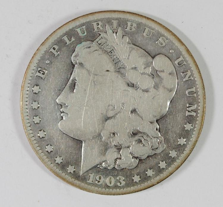 1903-S MORGAN SILVER DOLLAR, VG