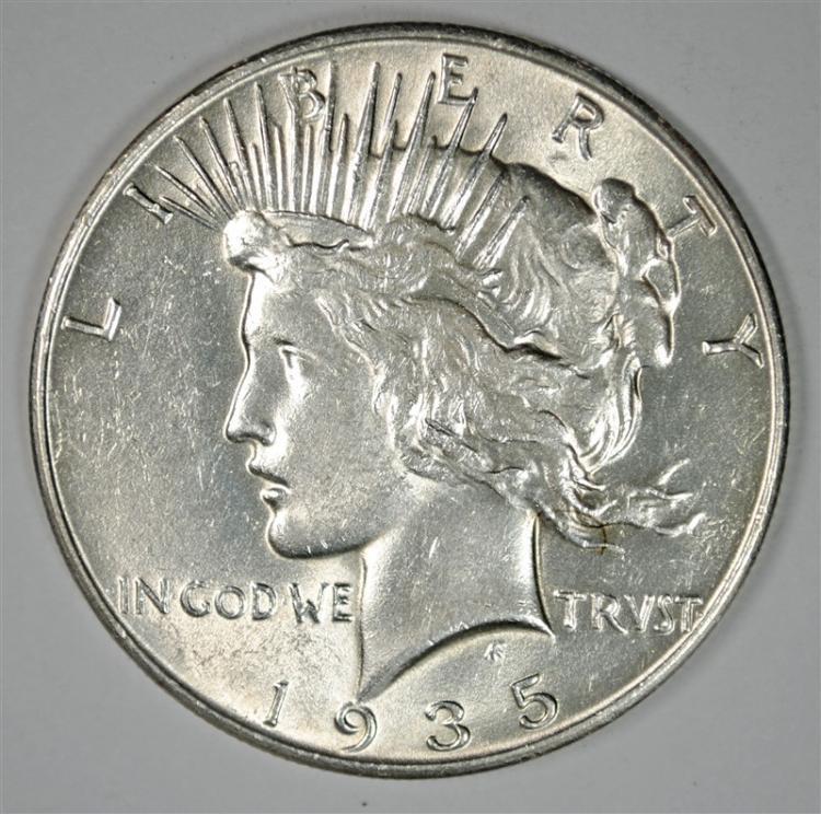 1935 PEACE SILVER DOLLAR BU