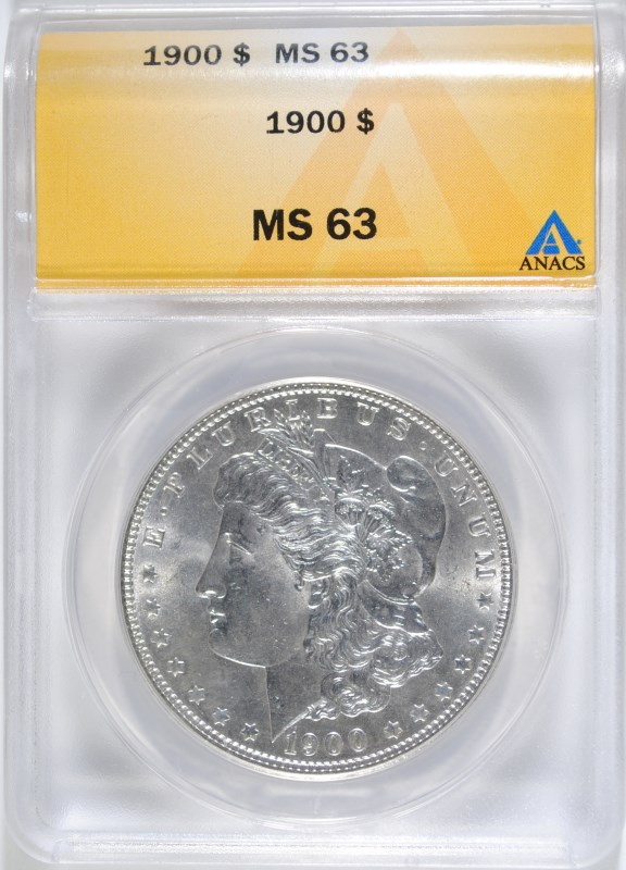 1900 MORGAN DOLLAR ANACS MS-63