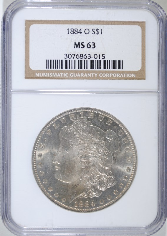 1884-O MORGAN DOLLAR NGC MS-63